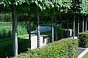Laurent-Perrier Garden, RHS Chelsea Flower Show 2009.Planting includes Box (Buxus sempervirens), Hornbeam (Carpinus betulus), and Yew (Taxus baccata).