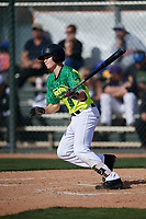 Cade Cabral during the Under Armour All-America Pre-Season Tournament, powered by Baseball Factory, on January 19, 2019 at Fitch Park in Mesa, Arizona.  Cade Cabral is a second baseman from San Diego, California who attends Foothills Christian High School.  (Mike Janes/Four Seam Images)