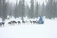 DeeDee Jonrowe Leaves Kaltag in Snowstorm AK 2005 Iditarod Winter