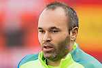 Andres Iniesta Lujan of FC Barcelona prior to the La Liga match between Atletico de Madrid and FC Barcelona at the Santiago Bernabeu Stadium on 26 February 2017 in Madrid, Spain. Photo by Diego Gonzalez Souto / Power Sport Images