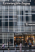 An exterior shot of the Ermenegildo Zegna store, Central district, Hong Kong, China, 28 April 2014.