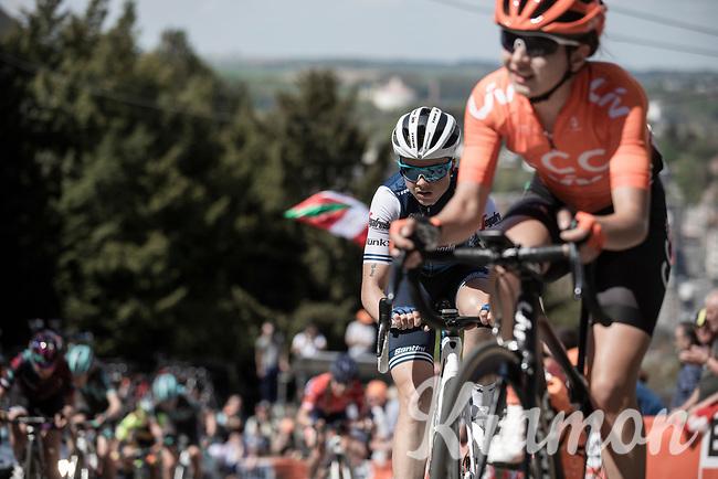 Audrey Cordon-Ragot (FRA/Trek Segafredo) up the infamous Mur de Huy.<br /> <br /> 22nd la Flèche Wallonne Féminin 2019 (1.WWT)<br /> 1 Day Race: Huy – Huy 118,5km<br /> women's elite race<br /> <br /> ©kramon