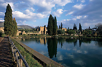 Ruins and pond at Adrian's Villa, Tivoli, Italy.
