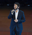 Josh Groban performs at the opening ceremonies at the US Open in Flushing, NY on August 31, 2015.