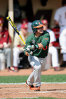 University of Miami Hurricanes catcher Roger Gonzalez #0 during a game versus the Boston College Eagles at Shea Field in Chestnut Hill, Massachusetts on April 26, 2013.  (Ken Babbitt/Four Seam Images)