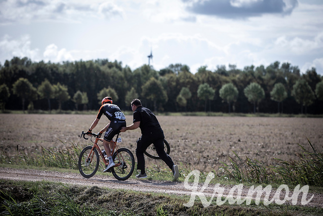 Lars Boom (NED/Roompot-Charles) with mechanical assistance<br /> <br /> Antwerp Port Epic 2019 <br /> One Day Race: Antwerp > Antwerp 187km<br /> <br /> ©kramon