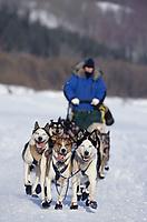 Jessica Hendricks on Yukon River on Way to Nulato