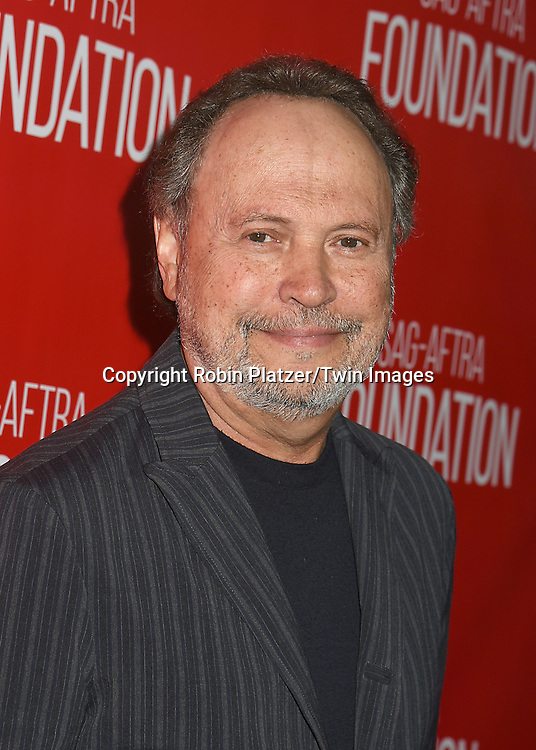 Billy Crystal attends the Grand Opening of SAG-AFTRA Foundation Robin Williams Center on October 5, 2016 at The Robin Williams Center in New York, New York, USA.<br /> <br /> photo by Robin Platzer/Twin Images<br />  <br /> phone number 212-935-0770
