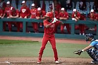 Terrell Tatum (1) of the North Carolina State Wolfpack at bat against the North Carolina Tar Heels at Boshamer Stadium on March 27, 2021 in Chapel Hill, North Carolina. (Brian Westerholt/Four Seam Images)