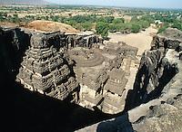 Indien, Ellora Caves (Maharashtra), Kailasa Tempel ( Hindu) Unesco-Weltkulturerbe