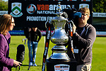 TV cameraman filming the Promotion Final trophy. Vanarama National League North, Promotion Final, North Ferriby United v AFC Fylde, 14th May 2016.