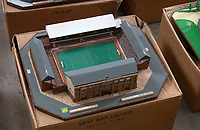 BNPS.co.uk (01202 558833)<br /> Pic: Zachary Culpin/BNPS<br /> <br /> Pictured: West Ham's old Upton Park ground<br /> <br /> An incredible collection of model football stadiums handmade by a soccer fan have sold for almost £19,000 after being found in a storage unit.<br /> <br /> Model-maker John Le Maitre created miniature versions of all 92 English Football League club grounds from the 1980s, as well as the old Wembley Stadium.<br /> <br /> They featured on a Blue Peter episode that year and are a throwback to a bygone age when football grounds with their banks of terraces looked very different to today's super stadiums.