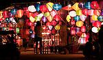 Lantern Stall 01 - Night stalls selling silk lanterns, An Hoi Island, Hoi An Viet Nam
