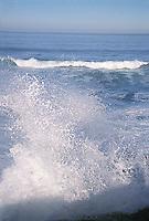 Waves crashing on shore<br />