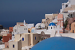 Oia dramatic cliffside buildings