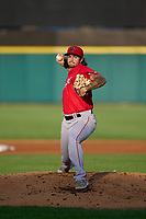 Worcester Red Sox pitcher Connor Seabold (23) during a game against the Rochester Red Wings on September 4, 2021 at Frontier Field in Rochester, New York.  (Mike Janes/Four Seam Images)
