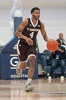 WASHINGTON, DC - JANUARY 5: Matt Johnson #4 of St. Bonaventure dribbles up court during a game between St. Bonaventure University and George Washington University at Charles E Smith Center on January 5, 2020 in Washington, DC.