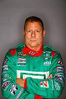 Feb 7, 2018; Pomona, CA, USA; NHRA funny car driver Jim Campbell poses for a portrait during media day at Auto Club Raceway at Pomona. Mandatory Credit: Mark J. Rebilas-USA TODAY Sports