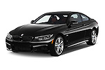 2017 BMW 4-Series 440i 2 Door Coupe Angular Front stock photos of front three quarter view
