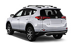 Car pictures of rear three quarter view of 2018 Toyota RAV4 SE 5 Door SUV Angular Rear