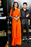 Indian actress Shilpa Shetty and indian actor Sooraj Pancholi during the presentation of the IIFA Awards in Madrid. June 23, 2016. (ALTERPHOTOS/BorjaB.Hojas)