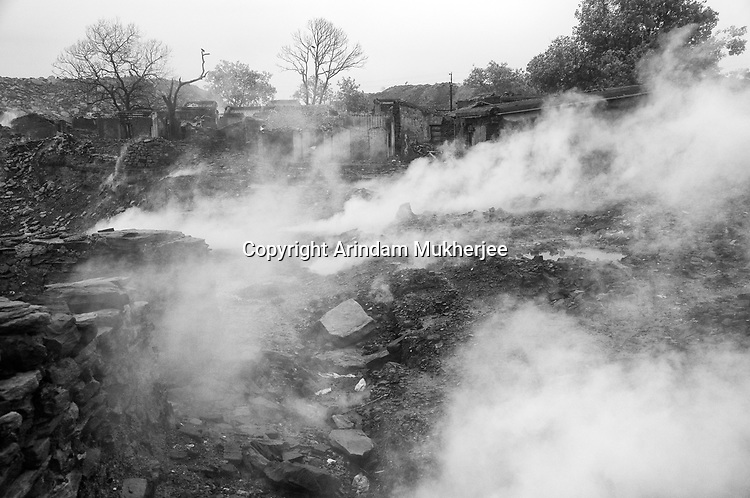 The village of Laltengunj is destroyed by mine fire in Jharia, Jharkhand, India