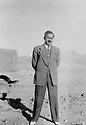 Iraq 1951 .Sheikh Marouf Barzinji on the road between Sengaw and Chemchemal.Irak 1951.Sheikh Marouf Barzinji, entre Sengao et Chemchemal
