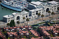 aerial photograph of Pier 3 and Pier 5, San Francisco, California
