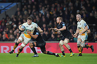 Will Rowlands of Wasps tackled during Big Game 11, the Gallagher Premiership Rugby match between Harlequins and Wasps, at Twickenham Stadium on Saturday 29th December 2018 (Photo by Rob Munro/Stewart Communications)