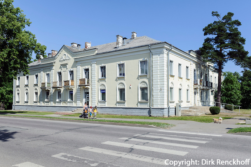 neoklassizistische Häuser in Sillamäe, Estland, Europa