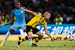 Borussia Dortmund midfielder Sebastian Rode (r) fights for the ball with Manchester City midfielder Fernandinho Roza (l) during the match against Manchester City FC at the 2016 International Champions Cup China match at the Shenzhen Stadium on 28 July 2016 in Shenzhen, China. Photo by Victor Fraile / Power Sport Images