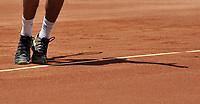 BOGOTA - COLOMBIA – 17 – 09 -2019: Santiago Giraldo de Colombia, sirve a Marin Cilic de Croacia, durante partido de la Copa Davis entre los equipos de Colombia y Croacia, partidos por el ascenso al Grupo Mundial de Copa Davis por BNP Paribas, en la Plaza de Toros La Santamaria en la ciudad de Bogota. / Santiago Giraldo of Colombia serves to Marin Cilic of Croatia, during a Davis Cup match between the teams of Colombia and Croatia, match promoted to the World Group Davis Cup by BNP Paribas, at the La Santamaria Ring Bull in Bogota city. / Photo: VizzorImage / Luis Ramirez / Staff.