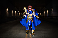 Female Version of Uther the Lightbringer from World of Warcraft by Kirstie Englis, Tree Dragon Cosplay, Emerald City Comicon, Seattle, Wa.