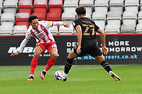 Mackye Townsend-West of Stevenage F.C. and Jay Bird of MK Dons F.C. during Stevenage vs MK Dons, EFL Trophy Football at the Lamex Stadium on 6th October 2020