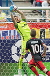 Goalkeeper Jan Oblak (top) of Atletico de Madrid in action during their La Liga match between Atletico de Madrid vs Athletic de Bilbao at the Estadio Vicente Calderon on 21 May 2017 in Madrid, Spain. Photo by Diego Gonzalez Souto / Power Sport Images