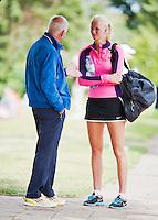 August 12, 2014, Netherlands, Raalte, TV Ramele, Tennis, National Championships, NRTK,  Fred Hemmes coaching <br /> Photo: Tennisimages/Henk Koster