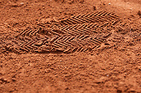 Paris, France, 28 June, 2016, Tennis, Roland Garros, Shoe print in the clay<br /> Photo: Henk Koster/tennisimages.com