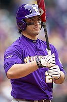 LSU Tigers designated hitter Chris Chinea (26) at the plate during the NCAA baseball game against the Baylor Bears on March 7, 2015 in the Houston College Classic at Minute Maid Park in Houston, Texas. LSU defeated Baylor 2-0. (Andrew Woolley/Four Seam Images)