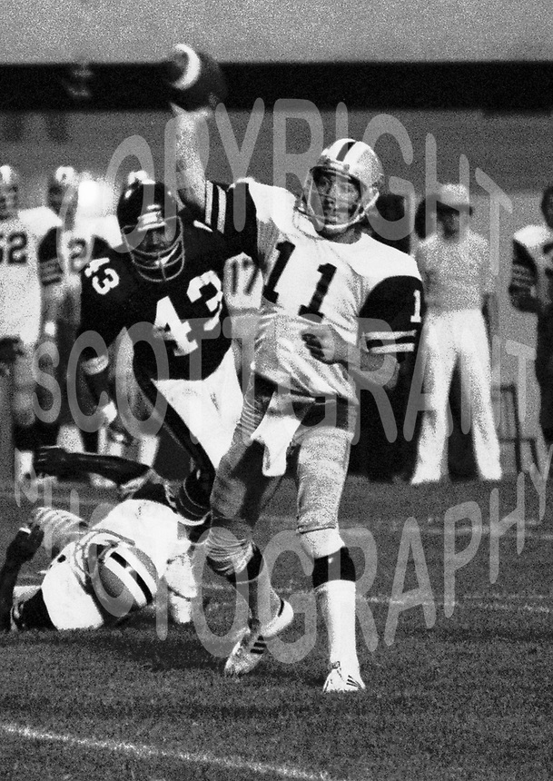 Tom Schuman Hamilton Tiger Cats quaterback 1977. Photo Scott Grant