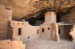 View of the Spruce Tree House ruins at Mesa Verde National Park, Colorado, USA