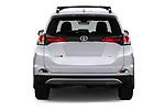 Straight rear view of 2018 Toyota RAV4 SE 5 Door SUV Rear View  stock images