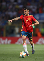 Football: Uefa European under 21 Championship 2019, Italy - Spain Renato Dall'Ara stadium Bologna Italy on June16, 2019.<br /> Spain's Dani Ceballos in action during the Uefa European under 21 Championship 2019football match between Italy and Spain at Renato Dall'Ara stadium in Bologna, Italy on June16, 2019.<br /> UPDATE IMAGES PRESS/Isabella Bonotto