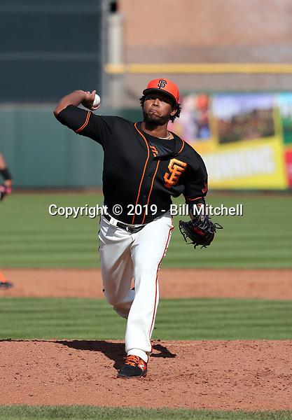 Carlos Navas - San Francisco Giants 2019 spring training (Bill Mitchell)