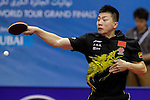 Athelete in action during the GAC Group 2013 ITTF World Tour Grand Finals at the Al Nasr Sports Club on January 11, 2014 in Dubai, United Arab Emirates. Photo by Alan Siu / Power Sport Images
