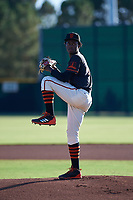 AZL Giants Black starting pitcher Freddery Paulino (84) during an Arizona League game against the AZL Angels at the Giants Baseball Complex on June 21, 2019 in Scottsdale, Arizona. AZL Angels defeated AZL Giants Black 6-3. (Zachary Lucy/Four Seam Images)