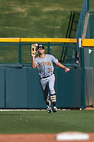 Glendale Desert Dogs outfielder Austin Meadows (30) catches a fly ball during an Arizona Fall League game against the Mesa Solar Sox on October 14, 2015 at Sloan Park in Mesa, Arizona.  Glendale defeated Mesa 7-6.  (Mike Janes/Four Seam Images)
