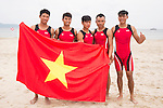 Vietnam Team after the Rowing Men's competition on Day Eight of the 5th Asian Beach Games 2016 at Bien Dong Park on 01 October 2016, in Danang, Vietnam. Photo by Marcio Machado / Power Sport Images