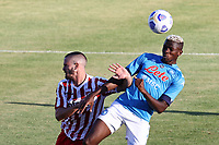 Victor Osimhen of SSC Napoli scores a goal <br /> during the friendly football match between SSC Napoli and SS Teramo Calcio 1913 at stadio Patini in Castel di Sangro, Italy, September 04, 2020. <br /> Photo Cesare Purini / Insidefoto