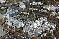aerial photograph Santa Clara Valley Medical Center, San Jose, California