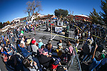 Hundreds of spectators watch the annual Nevada Day rock drilling competition in Carson City, Nev. on Saturday, Oct. 29, 2016. <br />